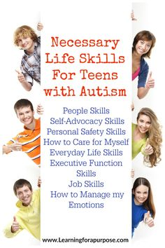 How do we help our teens with autism succeed with life skills? Check out our 8 categories of life skills to help your teen. Life Skills Classroom, Teaching Life Skills, Social Skills Activities, Activities For Teens, Autism Activities, Autism Resources, Autism Classroom, Coping Skills, Sorting Activities