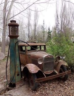 Outdated automobile and fuel pump. Legendary Outdated automobile and fuel pump. Legendary Outdated automobile and fuel pump. Abandoned Houses, Abandoned Places, Abandoned Vehicles, Old Vehicles, Abandoned Mansions, Military Vehicles, Pompe A Essence, Old Gas Pumps, Old Gas Stations