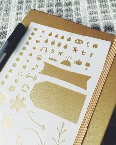 Essentials 2.0 Bullet Journal Stencil Filofax by MooAndTheBoo