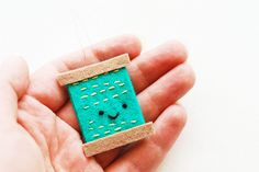 DIY Needle Threader - super cute! I would never have thought of making one of these!