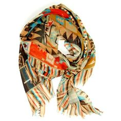 Marveled by Mayan Scarf Orange ... loving all the geometric and tribal patterns appearing in fashion... #Taurus #TaurusMoon #VirgoRising