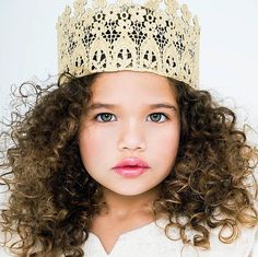 the Florabella tall sparkling gold crown FULL by   Waterproof firm lace crowns by lovecrushbowtique