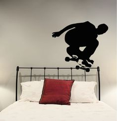 Skater Dude Wall Decal by TrendyWallDesigns on Etsy https://www.etsy.com/listing/199235358/skater-dude-wall-decal