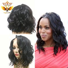 Find More Human Wigs Information about Full Lace Human Hair Wavy Bob Wig Glueless Remy Body Wave Full Lace Wigs With Baby Hair Short Full Lace Bob Wig For Black Women,High Quality wig weft,China wig cosplay Suppliers, Cheap wig set from Wigshow Hair Produ Real Hair Wigs, Human Hair Lace Wigs, Curly Hair Styles, Natural Hair Styles, Brazilian Hair Wigs, Human Wigs, Hair Extensions Best, Extensions Shop, Wavy Bobs