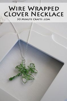 Wire Wrapped Clover Necklace