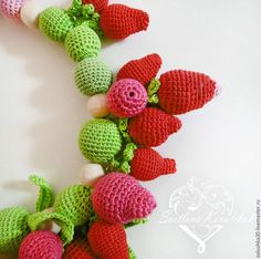 """Слингобусы """"Клубничное счастье!"""" - клубника, малина, много красных и зеленых ягод и листиков. Yoshi, Toys, Character, Art, Activity Toys, Art Background, Kunst, Gcse Art, Lettering"""