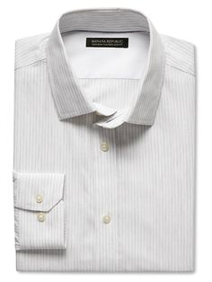 Tailored Slim-Fit Non-Iron Heathered Stripe Shirt