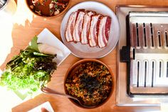 fried rice, pork belly, ssam - Trove