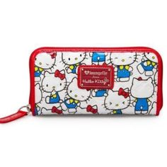 "Hello Kitty White Print Wallet New Hello Kitty wallet by Hello Kitty X Loungefly. Patent leather material with embossed Hello Kitty faces, comes with wrap around zipper closure. ID and card slots with one zipper pocket. Matching purse sold separately. Comes with original tags and packaging.  MEASUREMENTS: W: 8"" X D: 4"" Hello Kitty Bags Wallets"