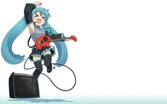 Hatsune Miku Chibi Guitar