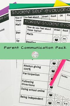 """Parents always ask, """"What can I do to help?"""" and now there is a resource to combat that question! This pack of parent hands out is PERFECT for Parent-teacher conferences. Send out a pre-conference form to your parents AND students. Pass out on paper or editable through PowerPoint. Then take notes and write down questions all on one form. In the end, send home a few resources of how parents can be helping at home. It's exactly what you need to connect parents to their child's learning! Parent Questionnaire, Parent Teacher Conferences, What Can I Do, Do You Feel, Parent Survey, Sight Word Flashcards, Parent Communication, Student Planner, Following Directions"""