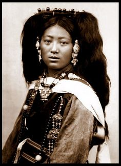 A YOUNG LADY OF OLD TIBET by Okinawa Soba, via Flickr