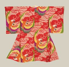 A colorful Taisho-period juban (underkimono). Taisho era (1912-1926), Japan. The Kimono Gallery