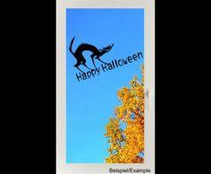 Deko Halloween - Gruselkatze - Happy Halloween - Folien-Tattoo - ein Designerstück von CatrinKerschl bei DaWanda