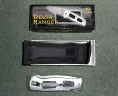 "FROST CUTLERY DELTA RANGER Locking Blade Knife w/Clip, Pouch, 4.75"" Closed, NIB! #FROSTCUTLERY"
