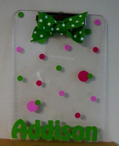 clipboard for Girl Scouts during cookie sales