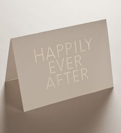 Happily Ever After card and envelope set | Studio Sarah.