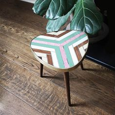 Hey, I found this really awesome Etsy listing at https://www.etsy.com/listing/226306790/1950s-triangular-tripod-side-table-plant