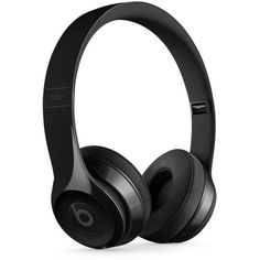 Beats by Dr. Dre Solo 3 Wireless Headphones (€255) ❤ liked on Polyvore featuring men's fashion, men's accessories, men's tech accessories, headphones, accessories, tech, electronics, filler and gloss black
