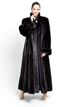 real Blackglama Mink fur coat full length females nerz vison ...