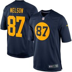 Nike Jordy Nelson Green Bay Packers  Alternate Game Football Jersey #packers #nfl #football
