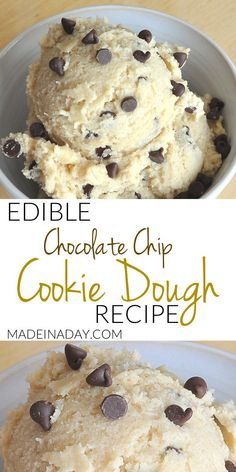 Edible Egg-less Cookie Dough Recipe, make a safer version of grocery store cookie dough that you can actually eat! Edible Egg-less Cookie Dough Recipe, make a safer version of grocery store cookie dough that you can actually eat! Eatible Cookie Dough, Cookie Dough Desserts, Healthy Cookie Dough, Edible Cookies, Cookie Dough For One, Homemade Cookie Dough, Oreo Desserts, Strawberry Desserts, Sweets