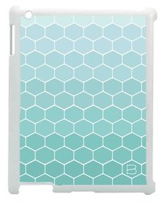 Teal Blue Honeycomb Pattern Initial iPad Case (http://www.wordon.com.au/products/personalised-initial-teal-blue-ombre-honeycomb-ipad-case.html)