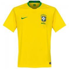 Camiseta de Brasil 2018-2019 Local #shirt #maillot #jersey #remera #playera #worldcup #mundial #brazil Soccer Shirts, Soccer Jerseys, Bmx, Premier League, Fifa, World Cup, The Selection, Men Casual, Leotards