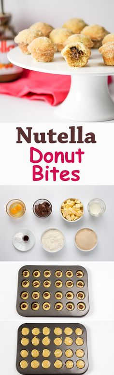 Baked mini donuts filled with Nutella!