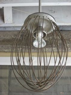 Industrial Bakery Whisk Light Fixture