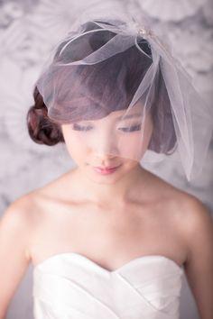Tulle birdcage veil weddings bridal by beingoflove on Etsy, $80.00