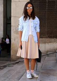 Diggin this casual-cool neutral palette outfit from Fashion Week
