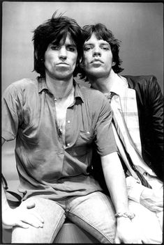 Keith Richards & Mick Jagger by Michael Putland