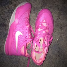 Make offers! Breast cancer awareness Nike sneakers Only worn three times. Not dirty, no scratches or stains (does not come with box) size 9! Nike Shoes Sneakers