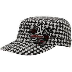 Alabama Crimson Tide Ladies Black Houndstooth Eve Adjustable Hat