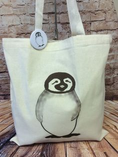 Slouchy The Penguin Tote Bag & Pin Badge £5 #CRAFTfest