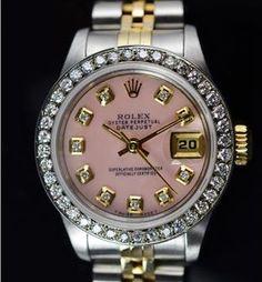 Rolex 26MM 18KGold/SS Watch Diamond Bezel  Dial, Circa 1993, Retail $7,340  http://www.propertyroom.com/l/7340-retail-rolex-26mm-18kgoldss-watch-diamond-bezel-dial-ref-69173-circa-1993/9647371