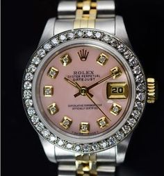 Rolex 26MM 18KGold/SS Watch Diamond Bezel  Dial, Circa 1993, Retail $7,340  http://www.propertyroom.com/l/7340-retail-rolex-26mm-18kgoldss-watch-diamond-bezel-dial-ref-69173-circa-1993/9647371