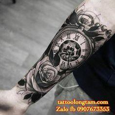 Kết quả hình ảnh cho hình xăm hoa hồng đồng hồ