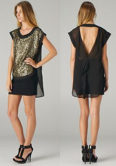 backless sequin top