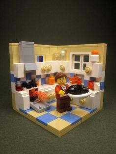 ~ Lego Mocs Holidays ~ by Walter Benson - Blackened Turkey Legos, Minecraft Lego, Lego Kitchen, Modele Lego, Van Lego, Lego Furniture, Lego Boards, Lego Pictures, Lego Modular