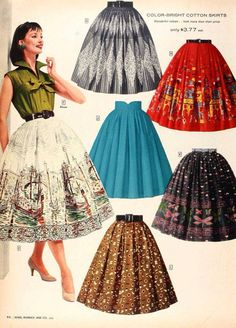 We are lucky to live in a world where pretty much anything goes, fashion-wise. It means that people can express themselves in all kinds of ways through clothing. Vintage Skirt, Vintage Dresses, Vintage Outfits, 1950s Dresses, 1950s Fashion Dresses, Retro Fashion, Vintage Fashion, Womens Fashion, Club Fashion