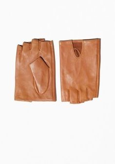 &Other Stories - Leather Fingerless Gloves