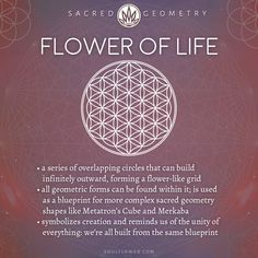 Flower of Life Meaning - Sacred Geometry - Soul Flower (Soulflower Clothin . - Flower of Life Meaning – Sacred Geometry – Soul Flower (Soulflower Clothing) – - Sacred Geometry Meanings, Sacred Geometry Tattoo, Symbols And Meanings, Symbols Of Life, Geometry Shape, Geometry Pattern, Fractal Geometry, Spiritual Symbols, Sacred Symbols