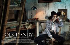 Karlina Caune Dons Folk Fashion for Vogue Germany May 2013 by Giampaolo Sgura | Fashion Gone Rogue: The Latest in Editorials and Campaigns