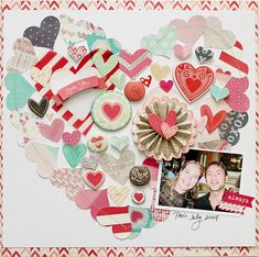 HEARTY layout by Katie Ehmann - check it out on her blog http://neverlandcrafts.blogspot.com.au/2014/02/american-crafts-valentines-day-blog-hop.html?showComment=1392453715561