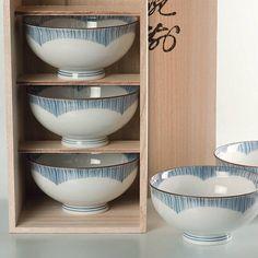 Japanese Arita porcelain rice bowls