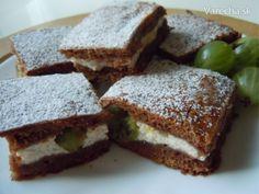 Egrešovo-rebarborový koláč s tvarohom - Recept