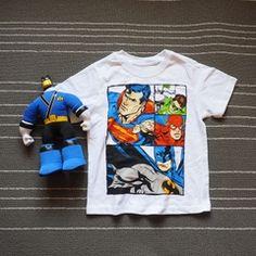 Детская одежда оригинальные одной Лига Справедливости Бэтмен Супермен мальчик мальчик ребенок дети подросткового возраста с короткими рукавами футболки