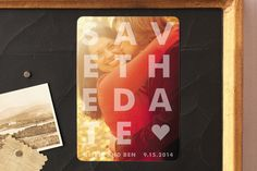 Etched Save the Date Magnets by jackmove | Minted